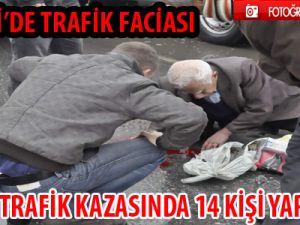 KAYSERİ'DE İKİ AYRI TRAFİK KAZASINDA 14 KİŞİ YARALANDI