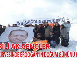 Kayserili Ak Gençler Erdoğan'ın Doğum Gününü Kutladılar