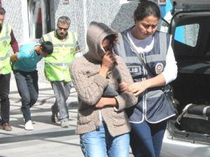 Kayseri'den Konya'ya Hırsızlık yapmaya giden kadın