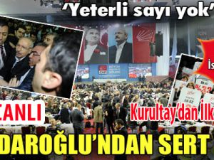CHP Kurultayı'nda Gergin Anlar Video