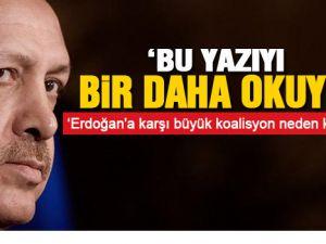 Erdoğan'a karşı büyük koalisyon neden kuruldu?