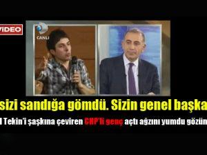 CHP'li Genç Gürsel Tekin'e Döktürdü VİDEO