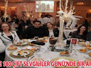 KAYSERİ'DE 180 ÇİFT SEVGİLİLER GÜNÜ'NDE BİR ARAYA GELDİ