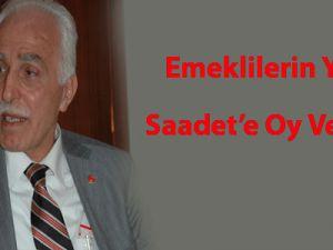 Emeklilerin yarısı Saadet'e oy verseydi...