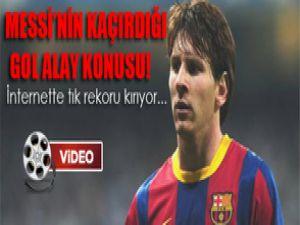 Lionel Messi Kaçırdığı Golle Şaşırttı!Video