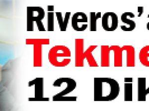 Riveros'a uçan tekme ve 12 dikiş!