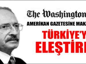 Kılıçdaroğlu Amerikan Gazetesine Makale Yazdı