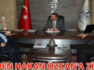 MHP'DEN HAKAN ÖZCAN'A ZİYARET