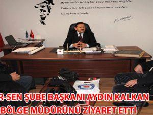 EĞİTİM-BİR-SEN Şube Başkanı Aydın Kalkan Vakıflar Bölge Müdürünü Ziyaret Etti
