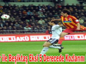 Kayserispor ile Beşiktaş Eksi 5 Derecede Kozlarını Paylaşacak