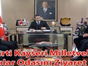 AK Parti Kayseri Milletvekilleri  Eczacılar Odasını Ziyaret Etti