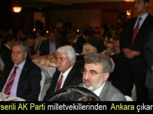Kayserili AK Parti milletvekillerinden  Ankara çıkarması