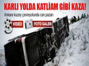 Ankara'da Katliam Gibi Kaza 4 ölü Video