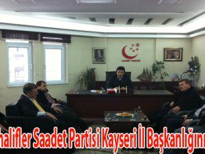 Suriyeli muhalifler Saadet Partisi Kayseri İl başkanlığını ziyaret etti.