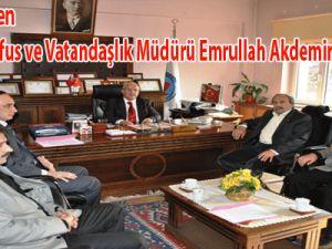 Eğitim-Bir-Sen Kayseri İl Nüfus ve Vatandaşlık Müdürü Emrullah Akdemir'i Ziyaret Etti
