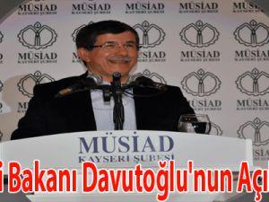 Dışişleri Bakanı Davutoğlu'nun Açıklaması