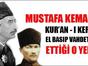 M.Kemal'in Vahdettin huzurundaki yemini