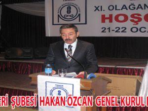 MMO KAYSERİ  ŞUBESİ HAKAN ÖZCAN  GENEL KURUL KONUŞMASI