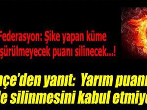 Fenerbahçe'den Tepki Puanımızı Silmeyin Küme Düşürün