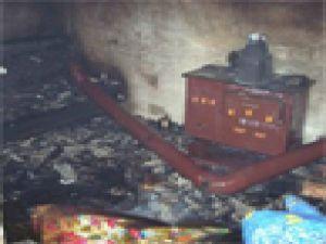Tomarza'da Sobadan Sıçrayan Kıvılcım Yangına Neden Oldu