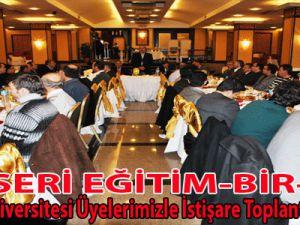 Eğitim-Bir-Sen Erciyes Üniversitesi Üyelerimizle İstişare Toplantısı Yaptı