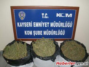 KAYSERİ'DE UYUŞTURUCU TACİRİ YAKALANDI