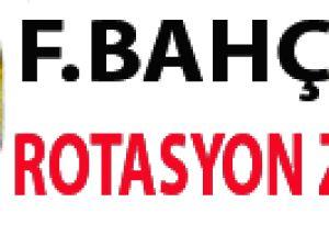 Fenerbahçe'de rotasyon zamanı