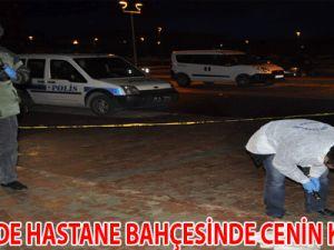 KAYSERİ'DE HASTANE BAHÇESİNDE CENİN KORKUSU