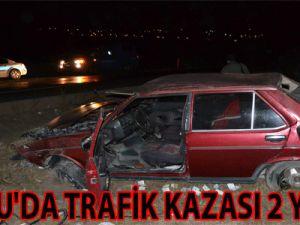 İNCESU'DA TRAFİK KAZASI 2 YARALI