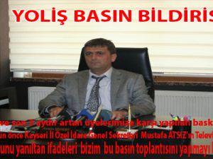 YOLİŞ BASIN BİLDİRİSİ