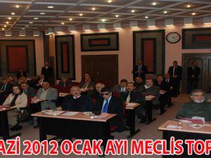 MELİKGAZİ 2012 OCAK AYI MECLİS TOPLANTISI