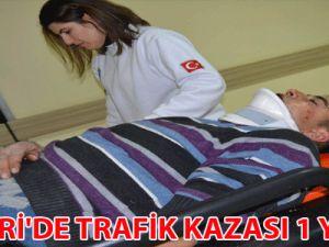 KAYSERİ'DE TRAFİK KAZASI 1 YARALI