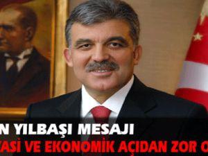 Gül'den yılbaşı mesajı