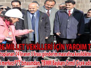 KAYSERİ'DE MİLLET VEKİLLERİ İÇİN YARDIM TOPLANDI