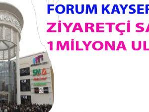 Forum Kayseri'nin Ziyaretçi Sayısı 1 Milyona Ulaştı