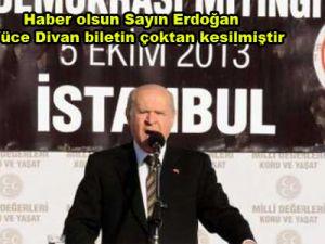 Devlet Bahçeli'den Erdoğan'a Ağır Sözler