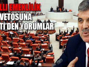 Gül'ün Maaş Vetosuna AK Parti'den Cevap