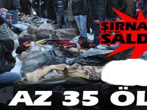Şırnak'ta saldırı en az 35 ölü
