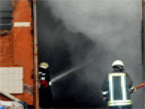 Kayseri'de Parfüm atölyesinde yangın