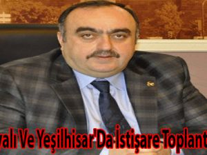 MHP, Yahyalı ve Yeşilhisar'da istişare toplantıları yaptı