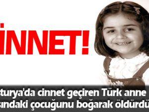 Avusturya'da yaşayan türk anne Cinnet geçirdi çocuğunu öldürdü