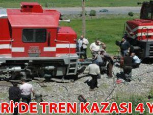 KAYSERİ MAHZEMİN GEÇİT'TE TREN KAZASI 4 YARALI