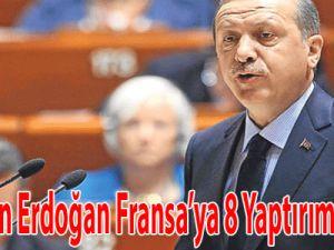 Başbakan Erdoğan, Fransa'ya 8 Yaptırım Açıkladı