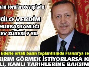 Erdoğan'dan Fransa'ya sert cevap