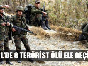 Bingöl'de 8 terörist ölü ele geçirildi