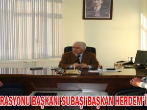 İZCİLİK FEDERASYONU BAŞKANI SUBAŞI BAŞKAN HERDEM'İ ZİYARET ETTİ