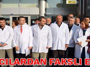 KAYSERİ'DE ECZACILARDAN FAKSLI EYLEM