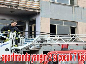 Kayseri'de apartmanda yangın  2'si çocuk 7 kişi, hastanede tedavi altına alındı