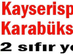 Kayserispor Karabükspor'u 2 Sıfır Yendi