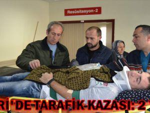 KAYSERİ'DE TARAFİK KAZASI: 2 YARALI
